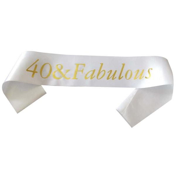 guldglitter födelsedagsruta 40 60 & fantastisk satin för 40: e 60: e B