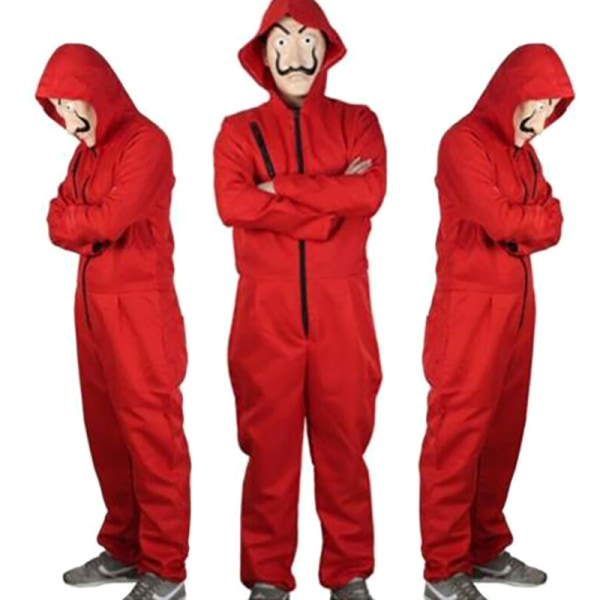 Halloween Cosplay La Casa De Papel Kostym Bodysuit Jumpsuit Out