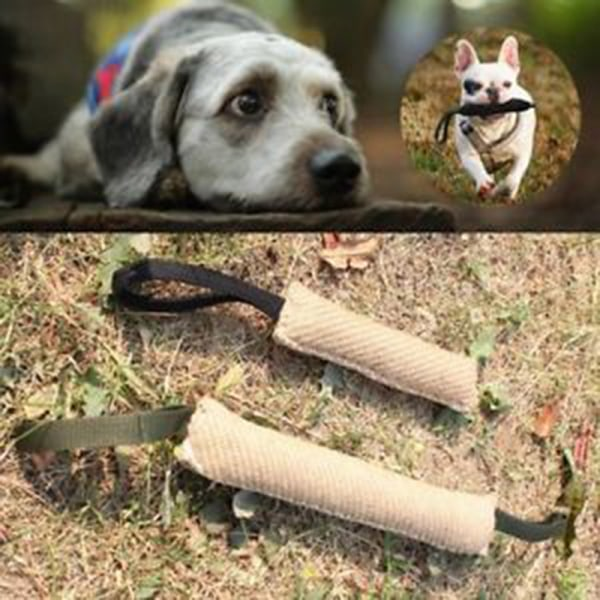 Handtag Jute Police Young Dog Bite Tug Play Toy Pet Training Ch
