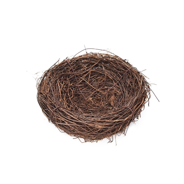 Handgjord Vine Brown Bird Nest House Home Nature Craft Holiday D