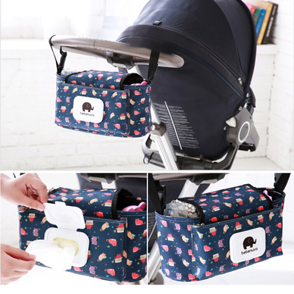 Hängande pås Barnvagn Tillbehör Nylonflaskarrangör Baby Carr