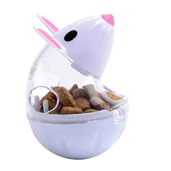 husdjur matare leksak kattmöss rullande läckage dispenser skål spela White