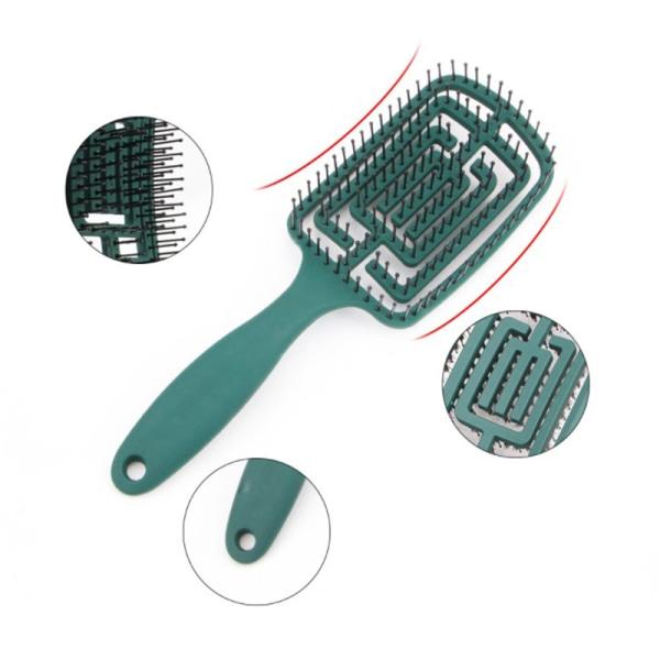 ihålig stor böjd kam kam utjämning hår kamning hår trassel A2