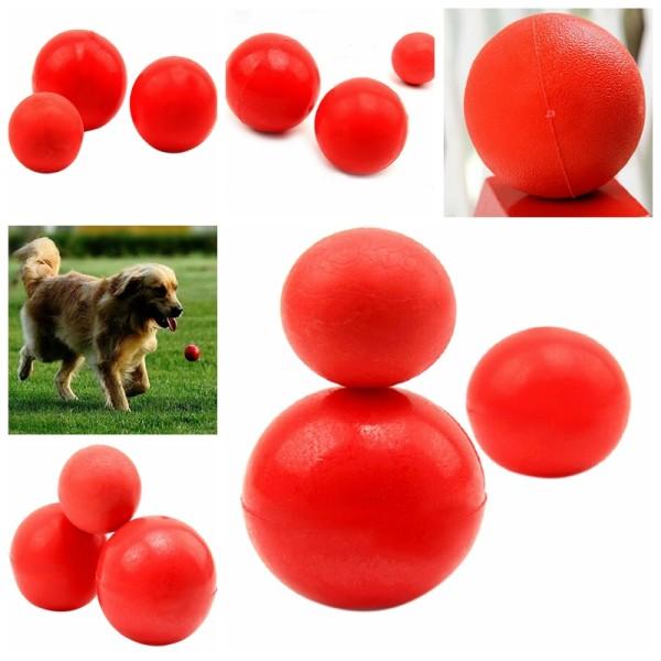 Oförstörbar massiv gummiboll Hundkatt Hundträning Tuggspel