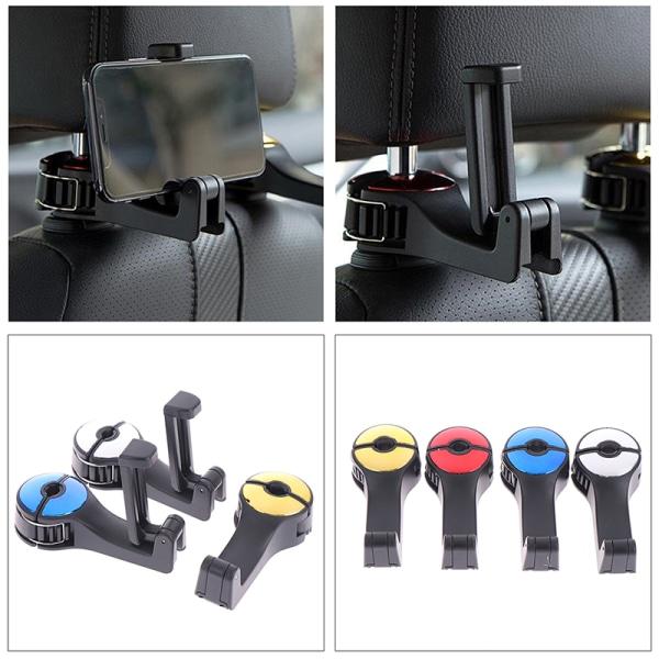 justerbara bilstödskrokar för biltelefonhållare fäste för säte Silver