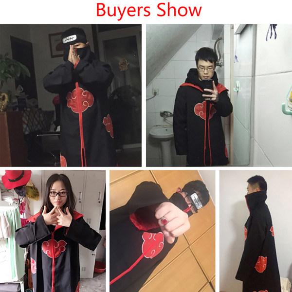 Kids Anime Naruto Cosplay Akatsuki Cloak Uchiha Party Kostym Ac