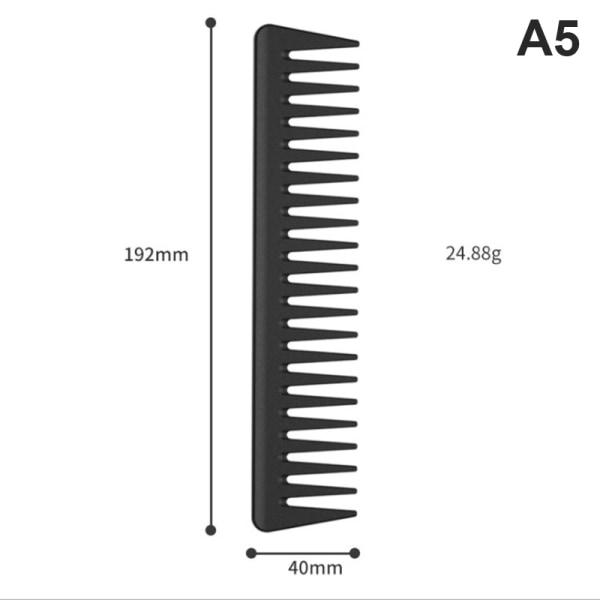 kolfiber kamuppsättning professionell hår svans kam salong skärning A5