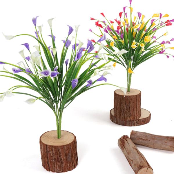 konstgjord lilja tulpan falska blommor falska plast utomhus växter Yellow