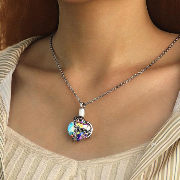 kremering halsband för mamma, pappa, husdjur memorial aska urn halsband k F