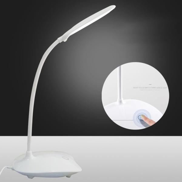 LED-vikbar, dimbar, ögonvårdande touch-bordslampa USB nattljus