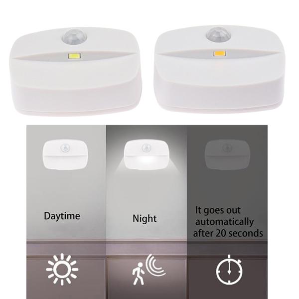 LED-rörelsesensor ljus Batteridriven vägglampa nattlampa
