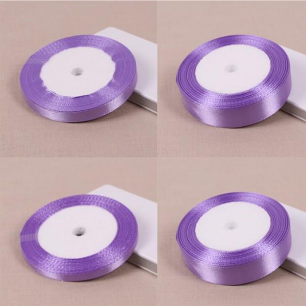 Ljuslila 25 Yards Silk Satin Ribbon Wedding Party Decoratio