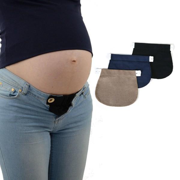 Moderskap Graviditet Midjebälte JUSTERBAR Elastisk midja Ext
