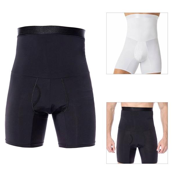 Herrkompression High Midja Slim Shorts Tummy Body Contour Sh