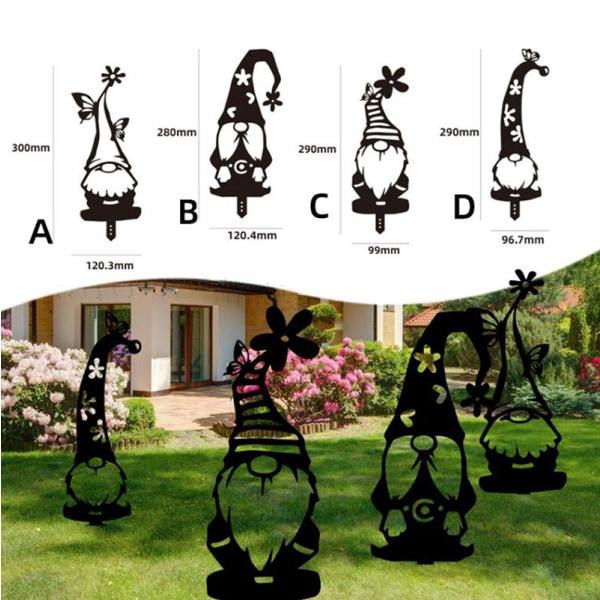 metall trädgård dekor tecken hem gräsmatta gård konst skulptur staty A4