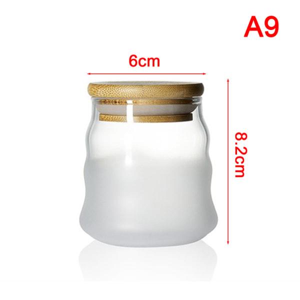 miniglasflaskor med lock klart transparent glasbehållare wi A9