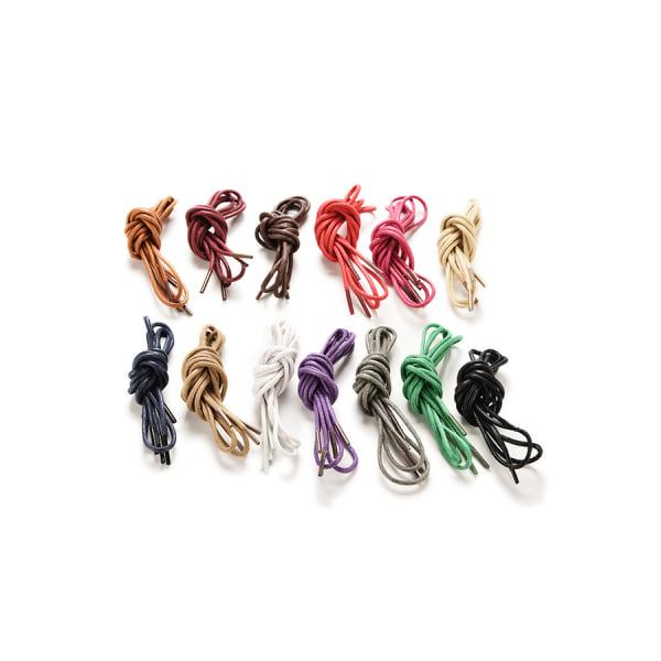 Flerfärgad bomullsvaxad rund snörning klänning skosnören 90c