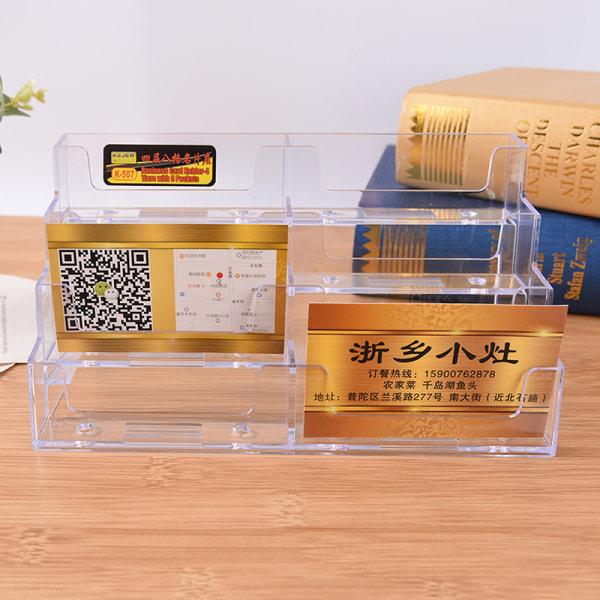 NY 8 Pocket Desktop Visitkorthållare Klar akryldisk