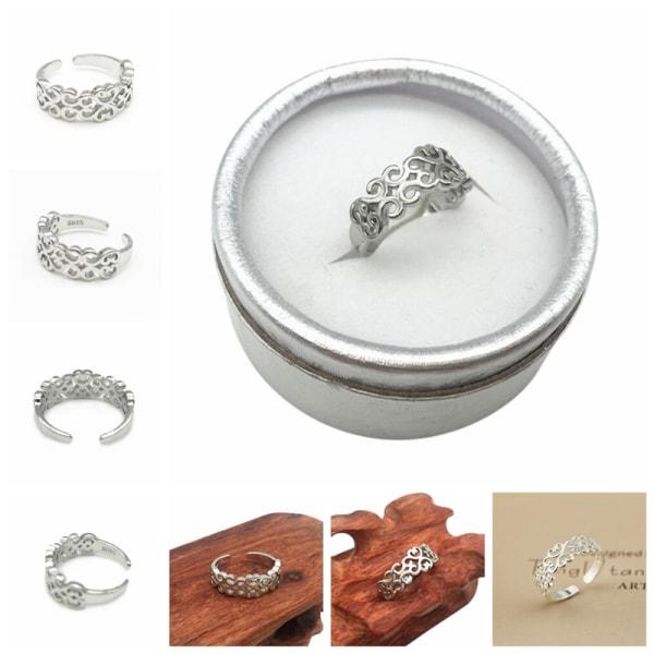 Nya 925 sterling silverpläterade ring kvinnor mode smycken hela