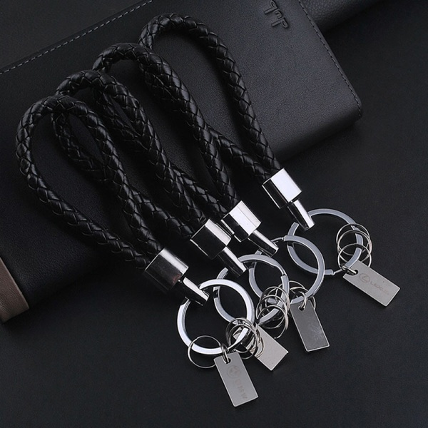 Nytt mode män läder nyckelring ring nyckelring nyckelring nyckelring