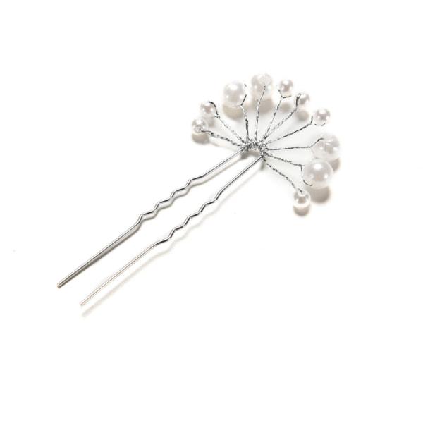 nyaste bröllop brud pärla blomma kristall hår stift klipp