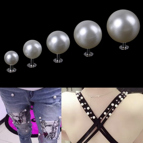 Pärlnitar-knapp för tygbyxa hattväska DIY hantverk dekor gar