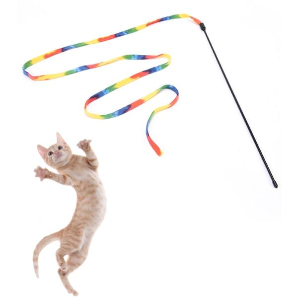 husdjurskatter regnbåge tygpinne leksak interaktiva leksaker för husdjurskatt j