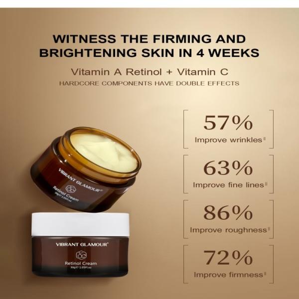 Retinol Face Care Cream Firming Lifting Anti-Aging Ta bort rynkor