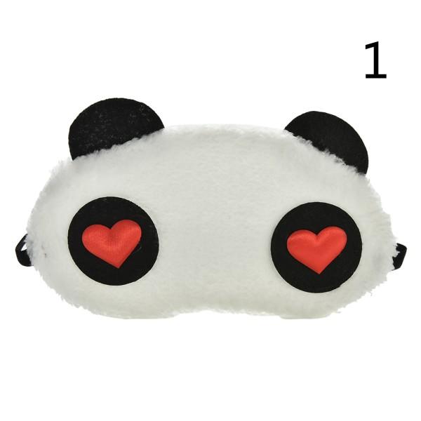 rolig panda ansikte öga resa sömn ljusisolerad mask ögonbindel port