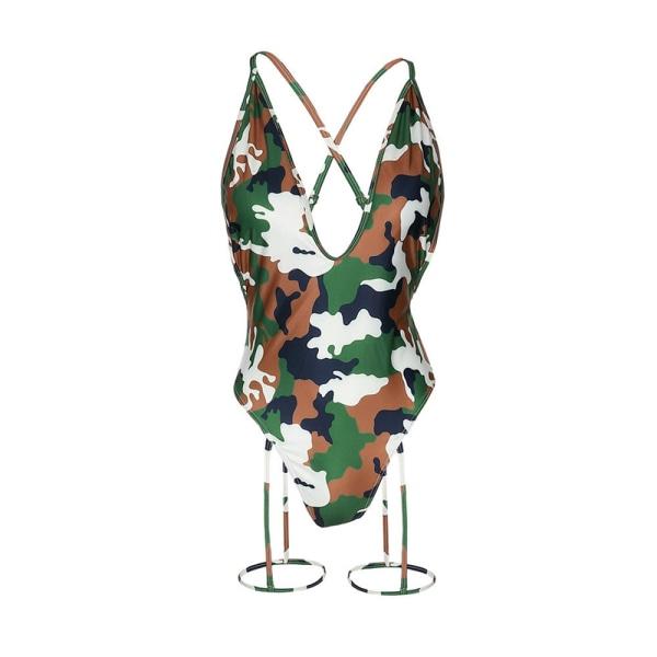 Sexig hel baddräkt Push Up badkläder Kvinnor Bikinis Bodysuit