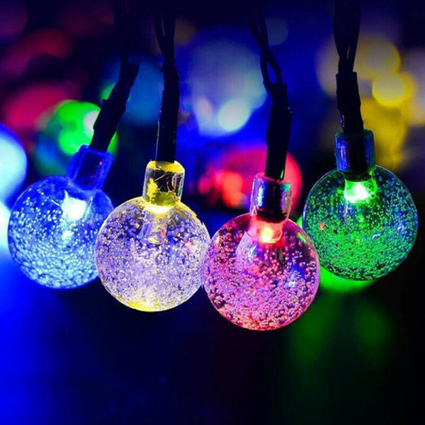 Solar Powered Bulbs Led Strängljus för utomhusbelysning Cour