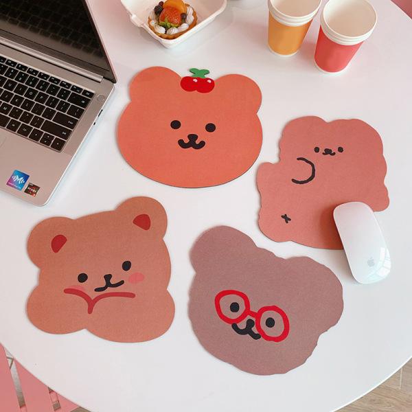 söt björn musmatta skrivbord stora mattor pad vattentätt kontor c F