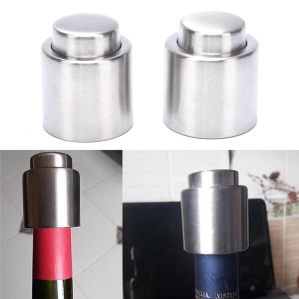 Rostfritt stål flaskstoppare vakuum vinflaska tätning