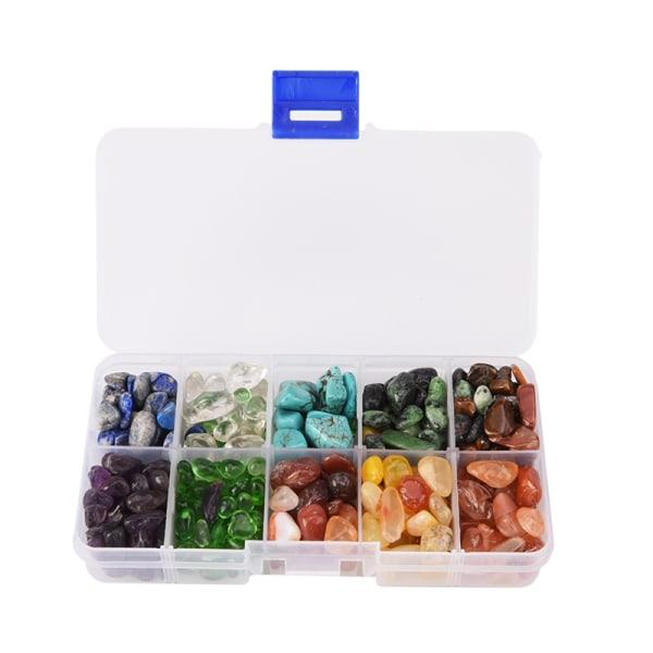 Tio slags sten Naturlig kvartskristall Mini / Rock Chips Energy