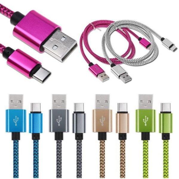 TYP C- och androidkabel 1M Snabbladdare USB-kablar för mo