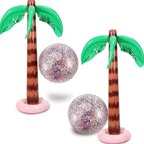 uppblåsbar tropisk palmträdpool strandfest dekor leksak utomhus A3