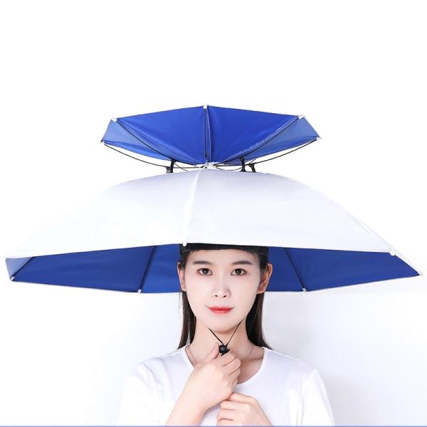 utomhus vikbart paraplyhatt mot regn anti-UV-fiskehatt A
