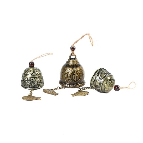 Tappninglegering Buddha Staty Bell Välsignelse Feng Shui Wind Chime