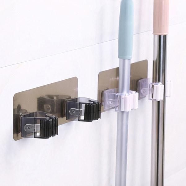 Väggmonterad kvasthållare Badrumsväggsmopphållare Klistermärke Broo