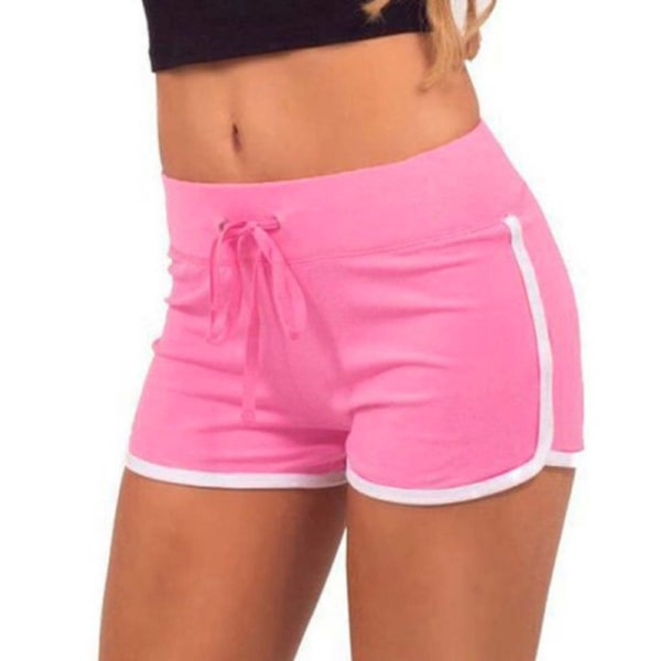 Dam Dambyxor Gym Yoga Mini Shorts Randig Dance Sport Fit
