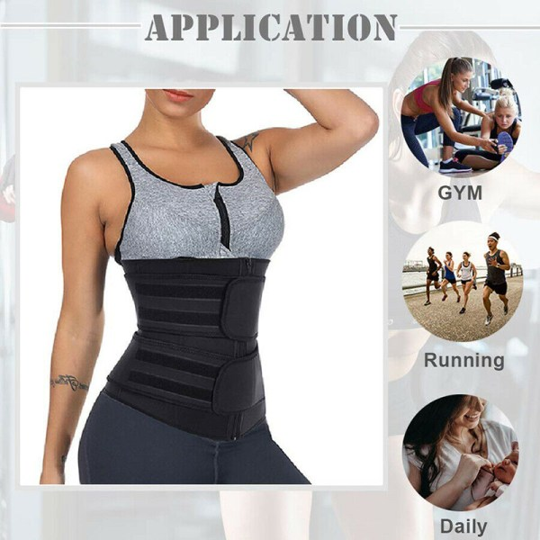Kvinnors midja tränare neopren bälte bastu svett Body Shaper mage