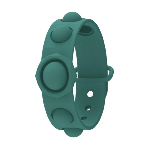 Sensory Fidget Armband, Stress Relief Bubble Wrist Armband Toy grön