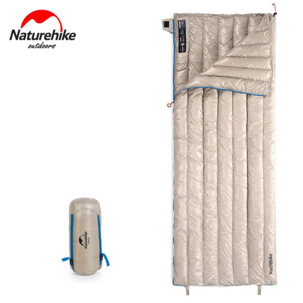 Ultralätt gåsdun sovsäck Kuvert Camping vattentätt Khaqi Standard