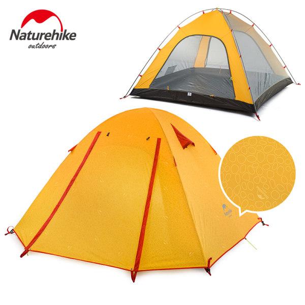 2/3/4 Person Camping Tält Cykelryggsäck Ultralight 210T Orange 2 personer