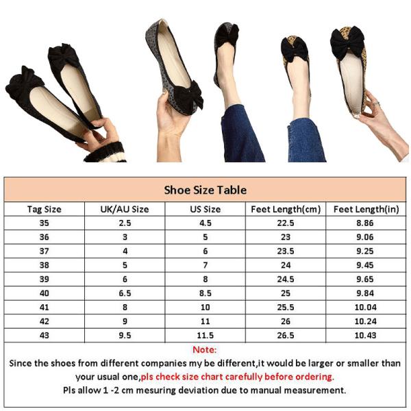 Dam enkla skor båge knut rund tå skor enfärgade skor Svart 43