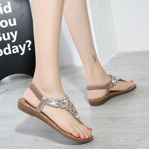 Dam Sandaler Sommar Flip Flops Arbetsskor Fritidsskor Mode Rosa 36