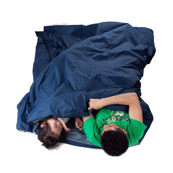 2 Person Camping Sovsäck Kuvert Typ Skarvning Vandring Blå