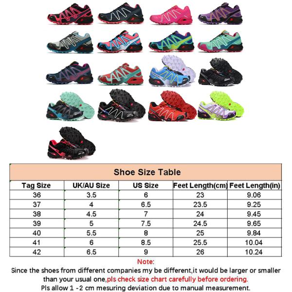 Kvinnors löparskor utomhus vandringssport skor fitness skor Röd14 36