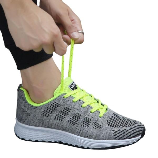 Ladies mesh löparskor casual skor gångträningsskor Fluorescerande Grön 44