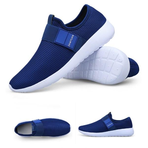 Mäns Athletic Sneakers för män Sport Casual Running Sock Shoes Blå 44